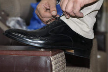 Load image into Gallery viewer, Handmade Black Brogue Leather Shoes - leathersguru