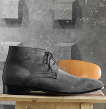 Load image into Gallery viewer, Bespoke Black Chukka Suede Lace Up Boots - leathersguru