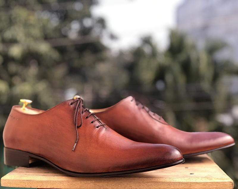 Handmade Brown Chukka Leather Lace Up Shoe - leathersguru