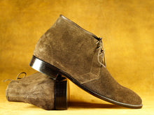 Load image into Gallery viewer, Men's Brown Chukka Boot,Bespoke Stylish Party Boot