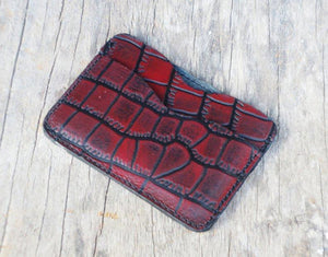 Minimalist Wallet, Alligator Texture wallet Minimalist Wallet Women, Minimalist Wallet Mens, Slim Wallet, Leather TACTICAL CARD HOLDER, - leathersguru