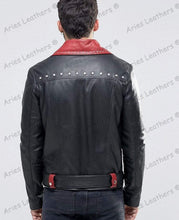 Load image into Gallery viewer, Genuine Lambskin Leather Beckham Black Biker jackets - leathersguru