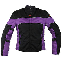 Load image into Gallery viewer, Xelement CF464 'Aegis' Women's /Purple Jacket Tri-Tex Armored Motorcycle Jacket