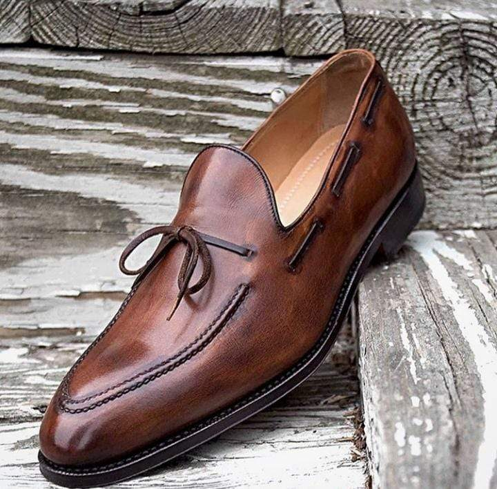 Handmade Men's Leather Loafers Shoes - leathersguru