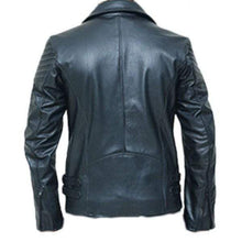Load image into Gallery viewer, Handmade black biker leather jacket special limited edition Jacket - leathersguru