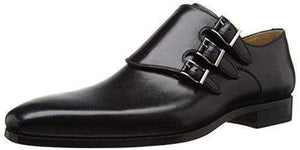 Handmade Black Triple Monk Leather Shoe - leathersguru