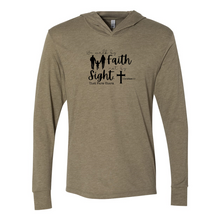 Load image into Gallery viewer, Walk by Faith Unisex Triblend Hooded Tee