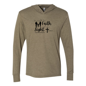 Walk by Faith Unisex Triblend Hooded Tee
