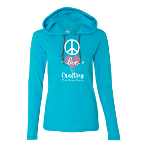 PEACE, LOVE & CRAFTING Lightweight L/S Hoodie