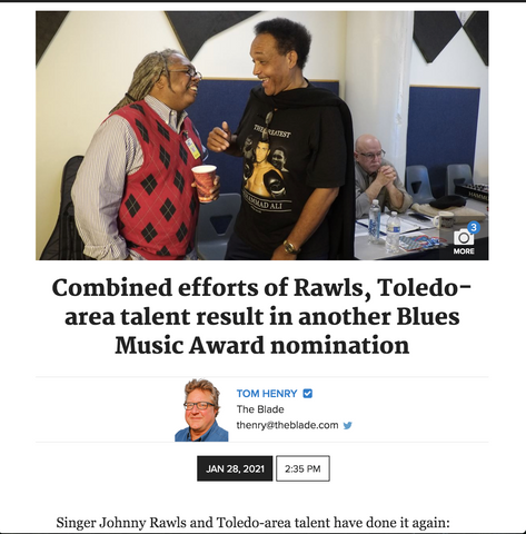 Combined efforts of Rawls, Toledo-area talent result in another Blues Music Award nomination