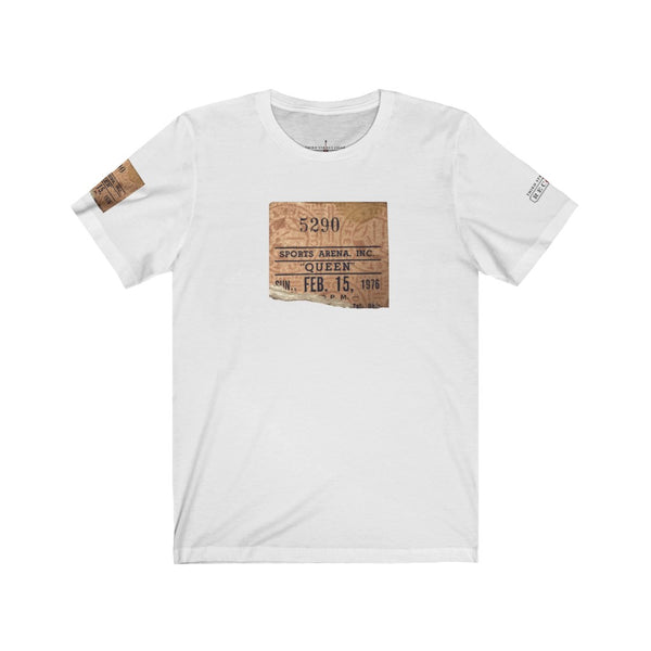 Queen - Concert Ticket Stub | Unisex Jersey Short Sleeve Tee