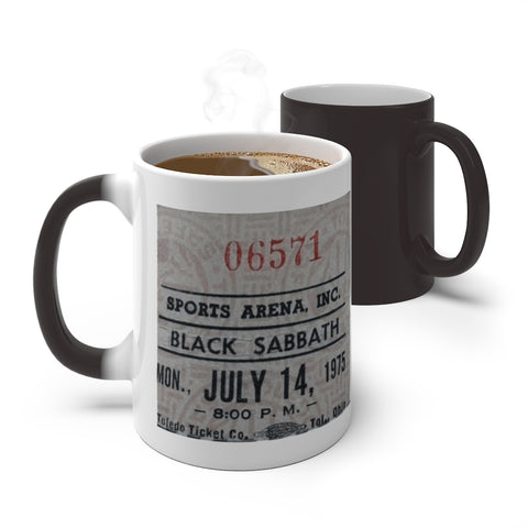 Black Sabbath - Concert Ticket Stub | Color Changing Mug