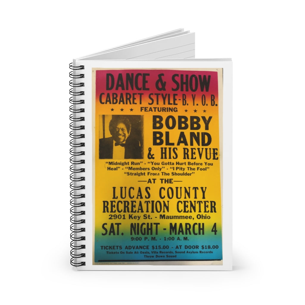 Bobby Bland - Concert Poster | Spiral Notebook - Ruled Line