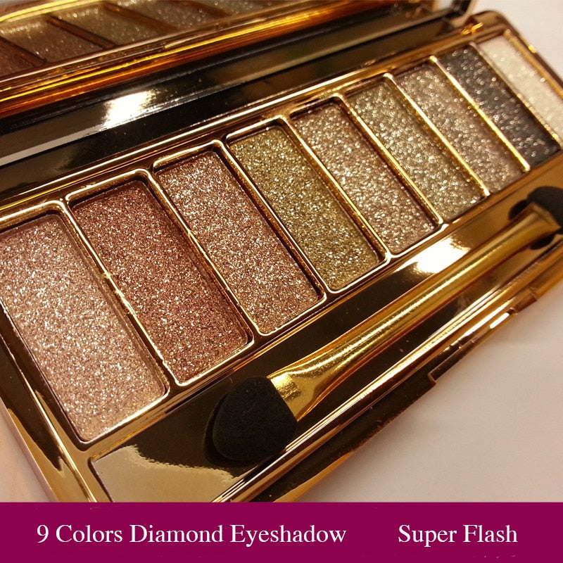 Eye Shadow Pallete Makeup 9 Colors Diamond Bright