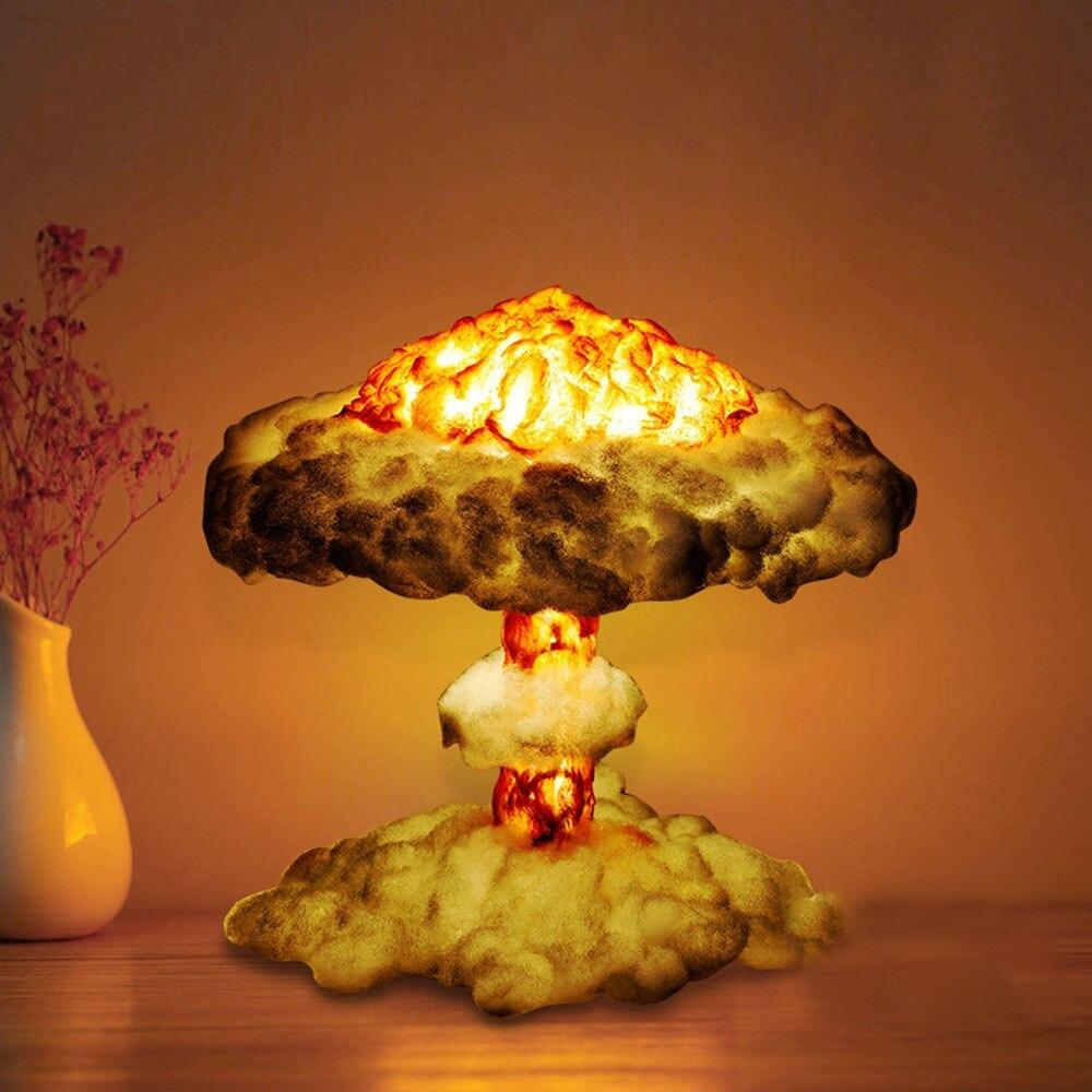 Nuclear Explosion Mushroom Cloud Model Lamp Nebula Light