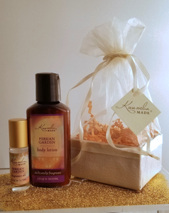 Persian Garden bath and body Two Treasures Gift Set from Kuumba Made
