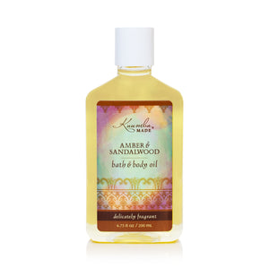Amber & Sandalwood Bath & Body Oil