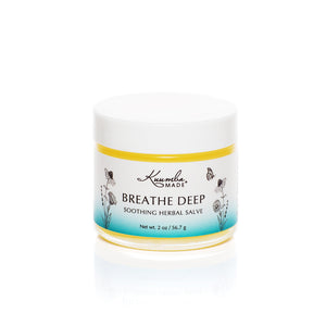 Breathe Deep Chest Rub Herbal Salve 2oz jar from Kuumba Made