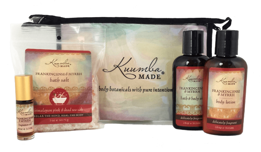 Frankincense and Myrrh Four Treasures Collection Bath and Body from Kuumba Made