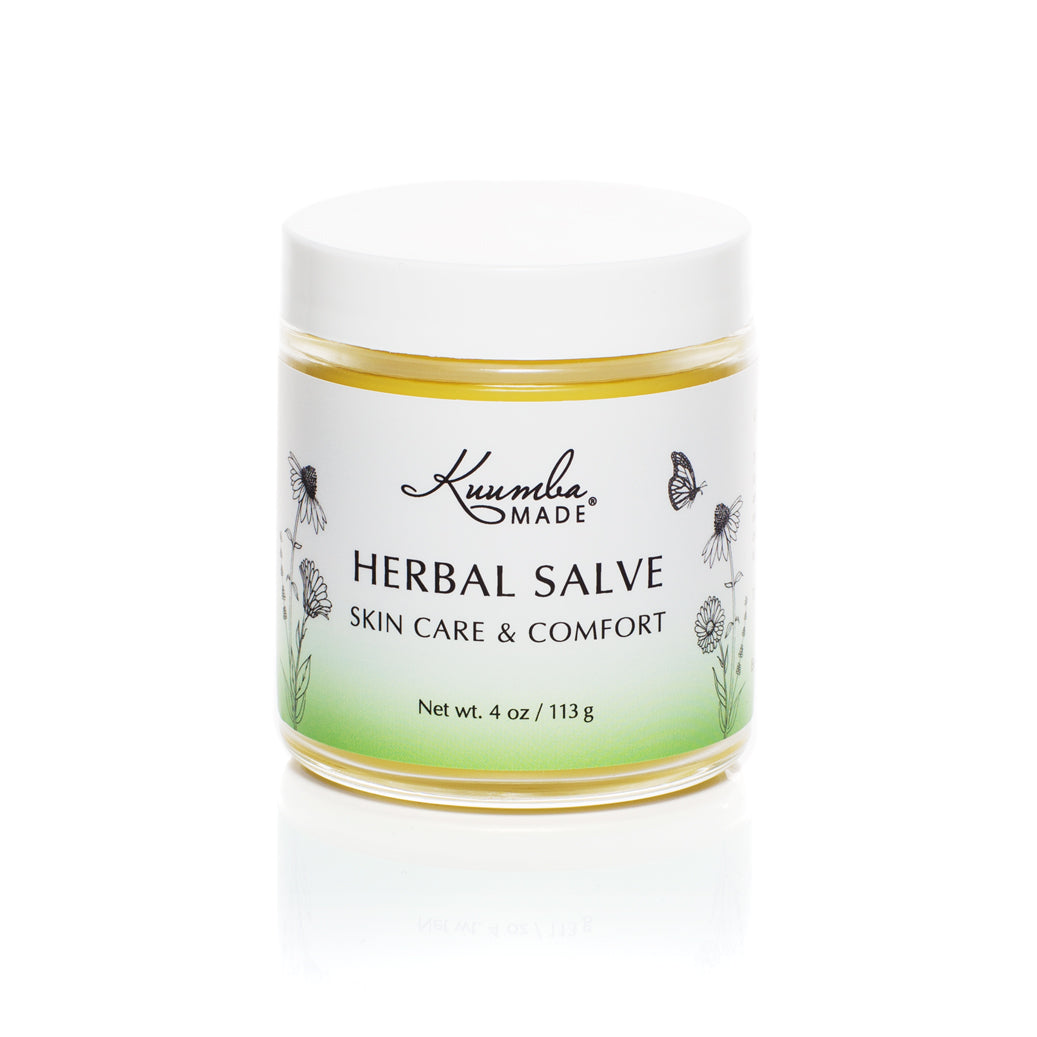 Herbal Salve Botanical Skin Care 4oz jar from Kuumba Made