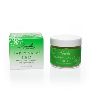 Happy Salve Natural CBD body therapy 2oz jar from Kuumba Made