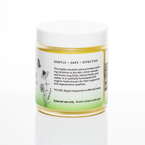 Herbal Salve Botanical Skin Care description from Kuumba Made