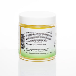 Herbal Salve Botanical Skin Care ingredients from Kuumba Made