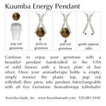 Instructions for replacing your aromatherapy gemstone on pendant.