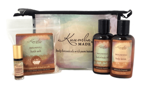 Patchouli Four Treasures Collection Bath and Body from Kuumba Made