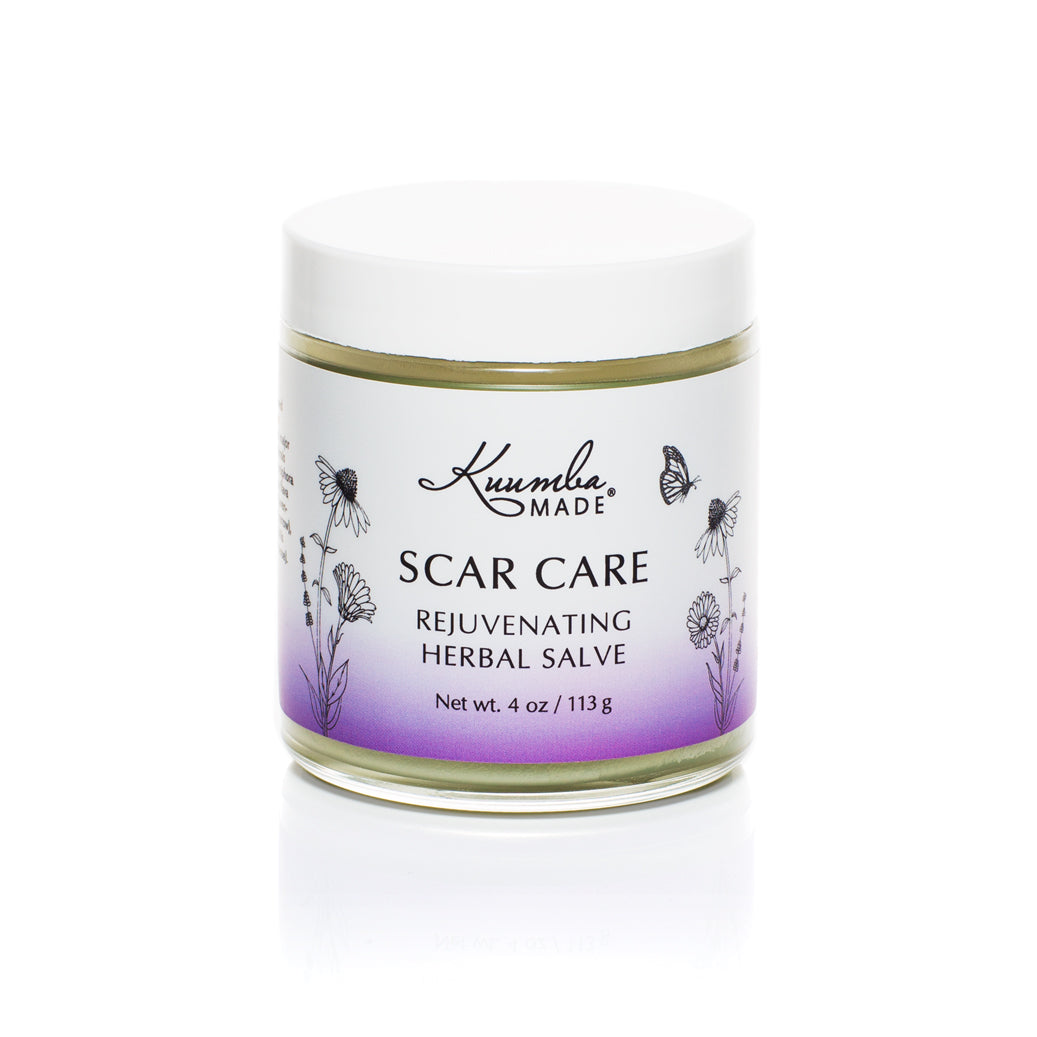 Scar Care Herbal Salve 4oz jar from Kuumba Made