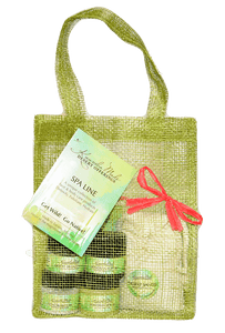 Sonoran Spa Collection in green tote