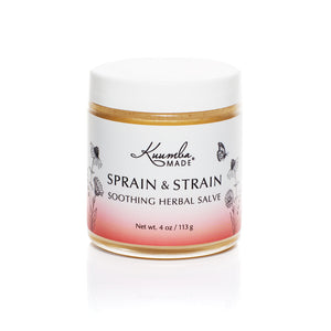 Sprain & Strain Herbal Salve 4oz jar from Kuumba Made