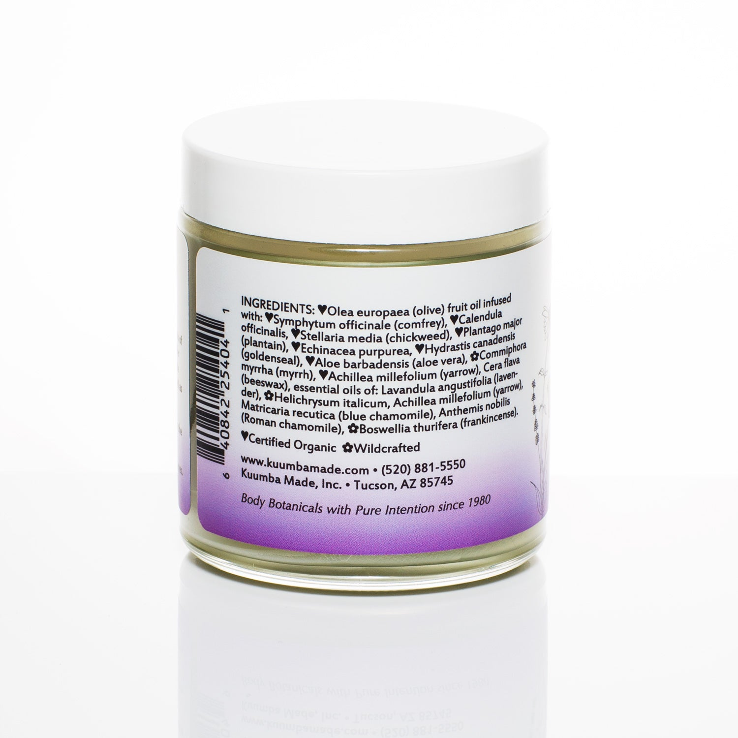 Scar Care Herbal Salve ingredients from Kuumba Made