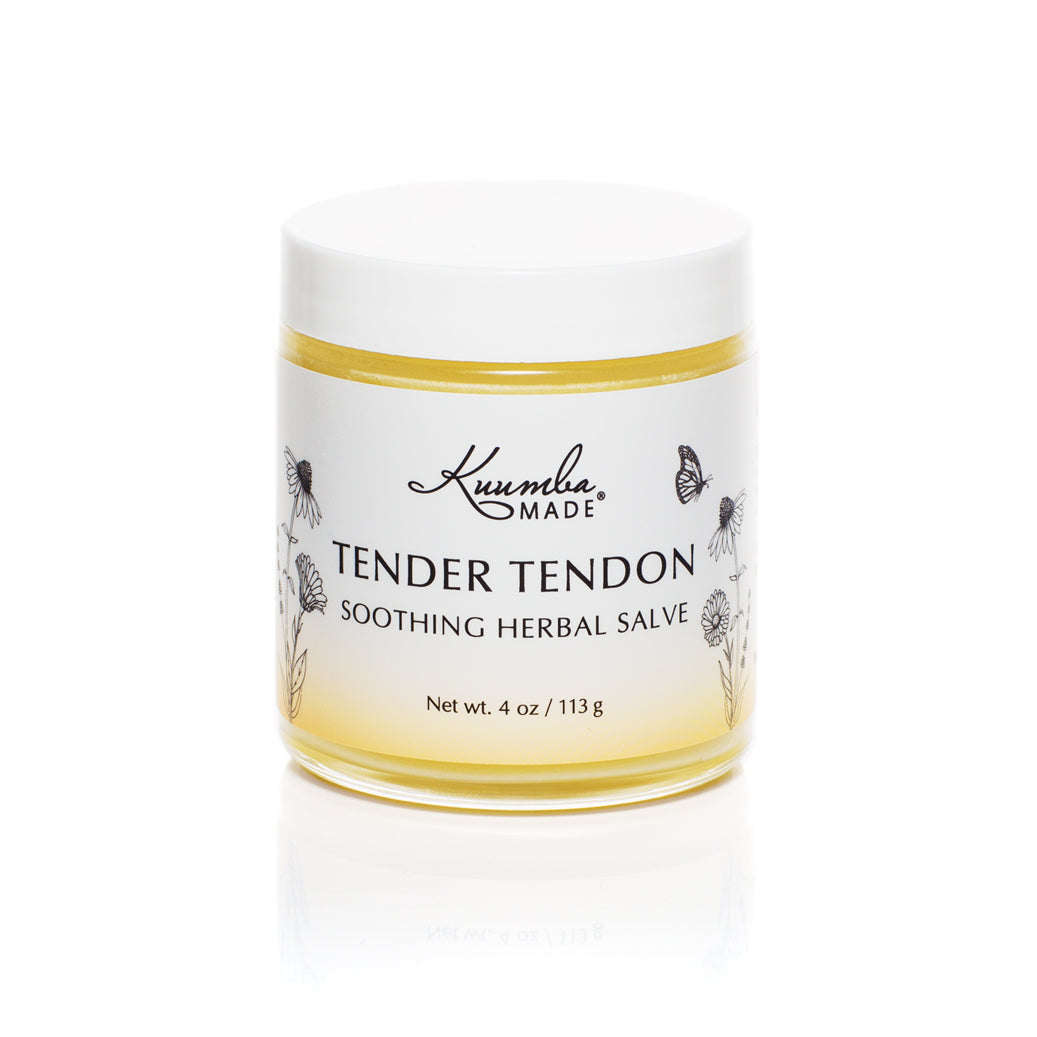 Tender Tendon Herbal Salve 4oz jar from Kuumba Made