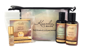 Vanilla bath and body Four Treasures Gift Set from Kuumba Made