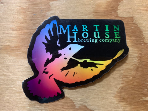 Martin House Sticker - Rainbow Fade