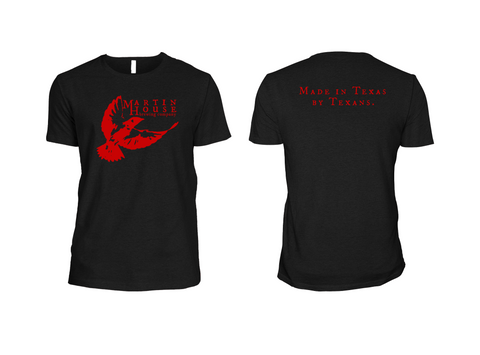 Martin House Logo Tee - Black and Red