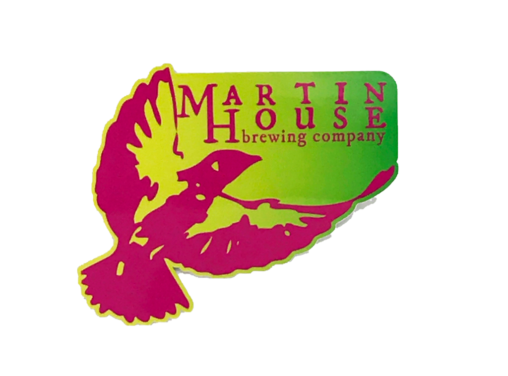 Martin House Pink and Lime Sticker