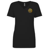 Gold Glitter Embroidered V-necks