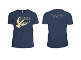 Martin House Logo Tee - Indigo and Beige