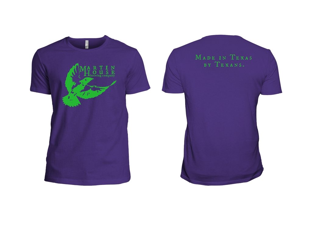 Martin House Logo Tee - Purple and Green