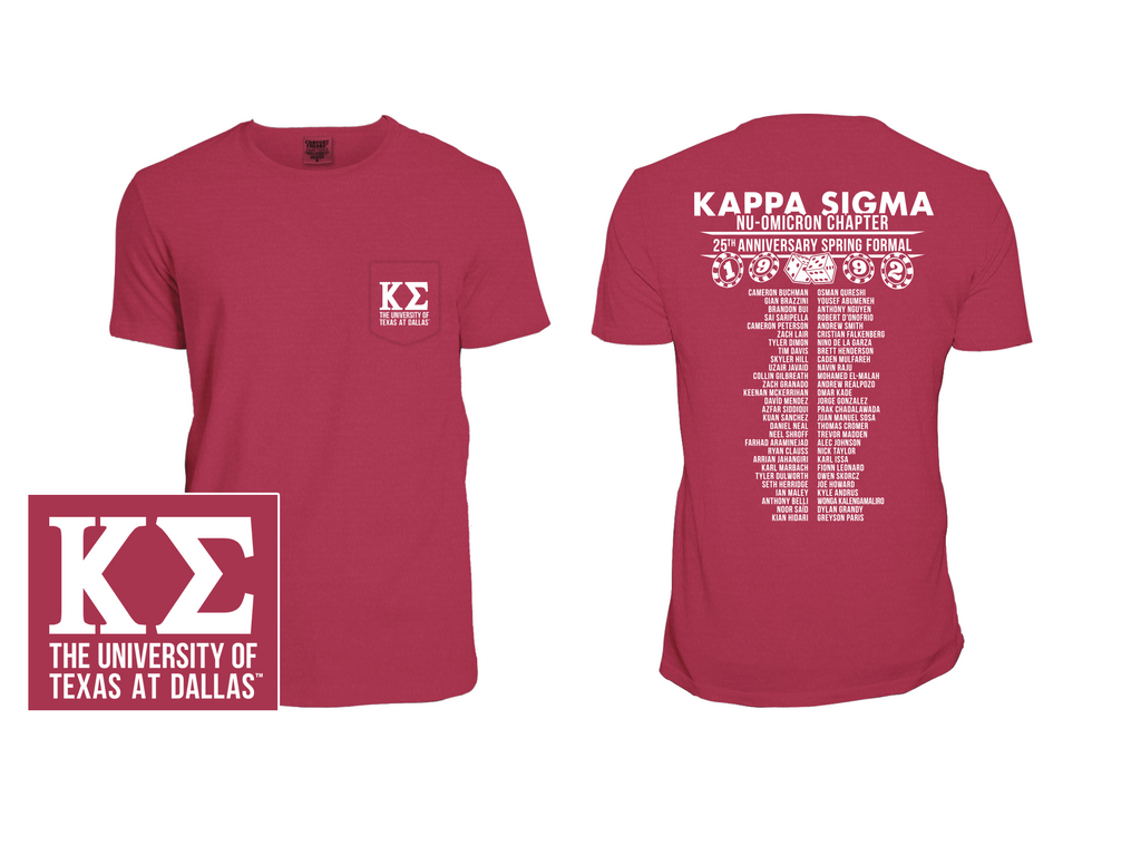 UTD Kappa Sigma - Spring 2017 Formal Shirts