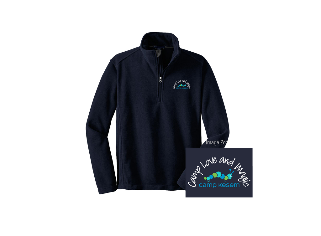 Camp Love and Magic 1/4 Zip Fleece-lined Pullover - No Name