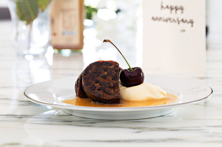 Chocolate and Orange Christmas Pudding 800g - Log in cloth