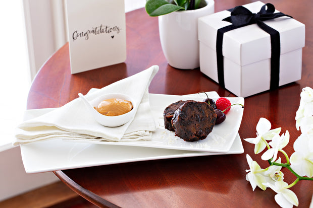 Chocolate Christmas Pudding 800g - Log in cloth