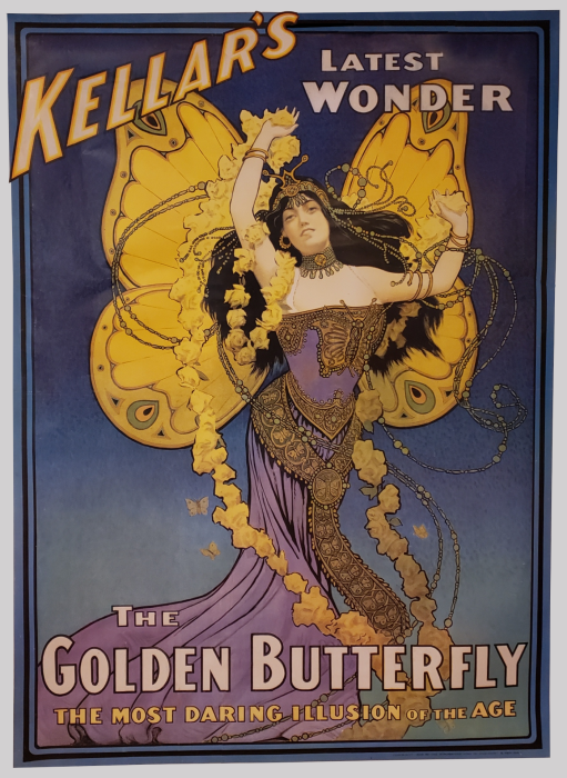 Kellar and the Golden Butterfly - Poster