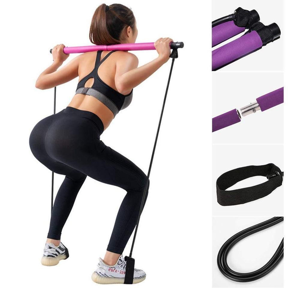 Portable Pilates Stick with Toning Bar - Mef gym