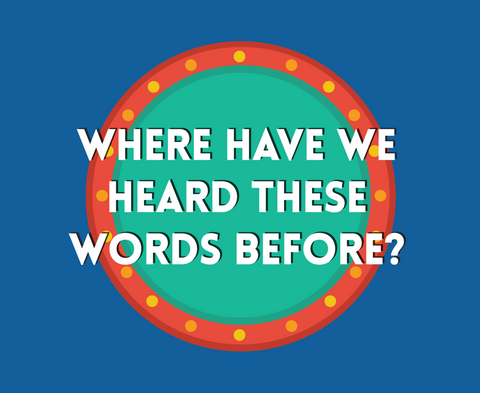 Where Have We Heard These Words Before - Poster