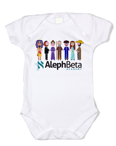 Aleph Beta Characters Baby One-Piece