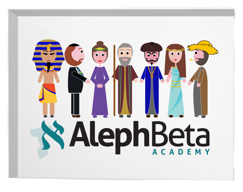 Aleph Beta Characters - Canvas